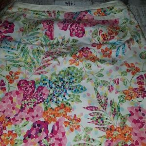 Talbots   Size 12 Floral Skirt